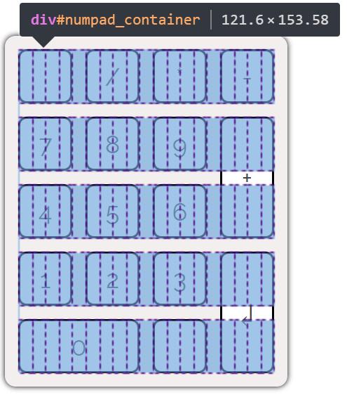 Number pad grid