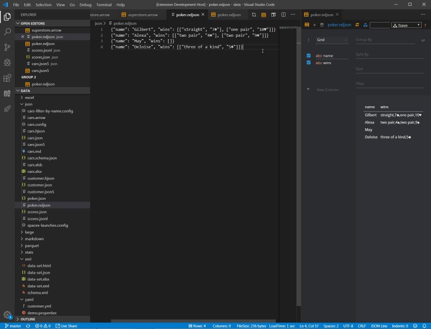 vscode-data-preview-ndjson