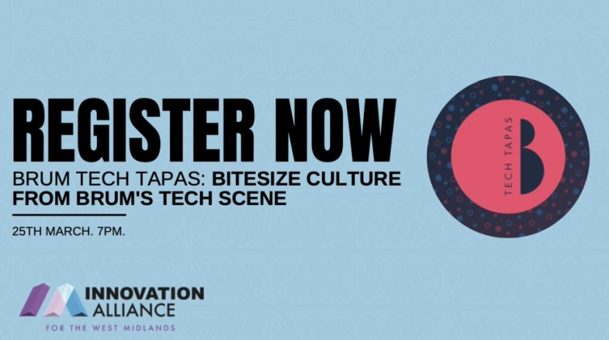 Image created by Innovation Alliance to promote Brum Tech Tapas