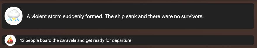 ship sank