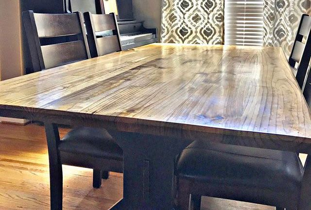 Our new dining room table.