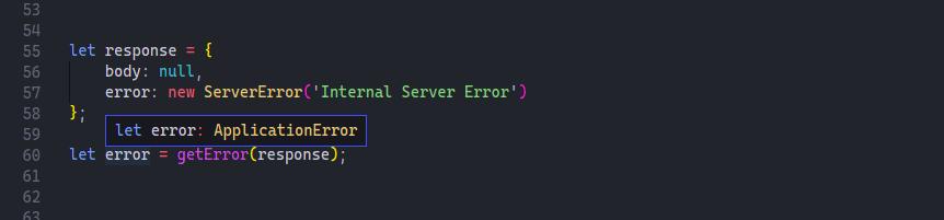 getError example with server error screenshot