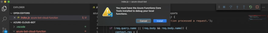 Install Azure Function Core Tools