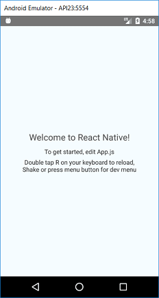 Welcome to React Native!