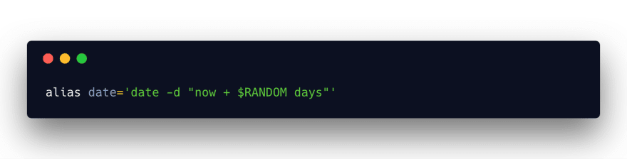 date function returns random date
