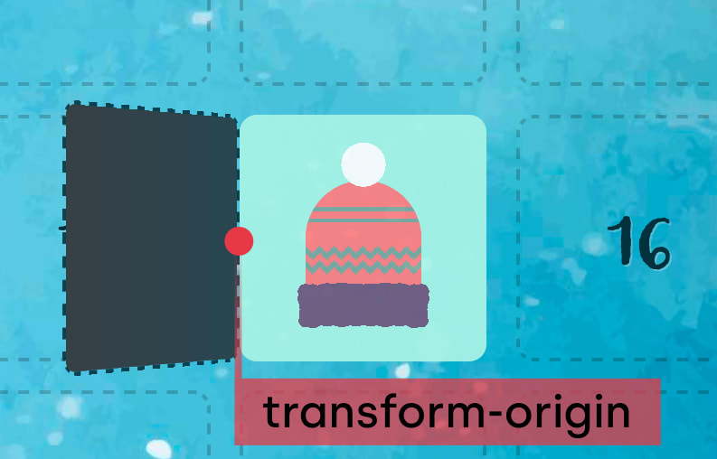 Transform origin with opening door
