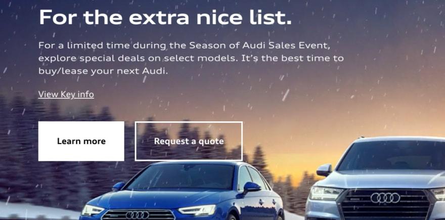 Screenshot from audiusa.com