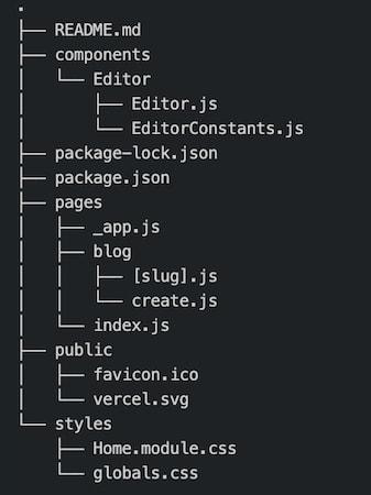 Project folder structure