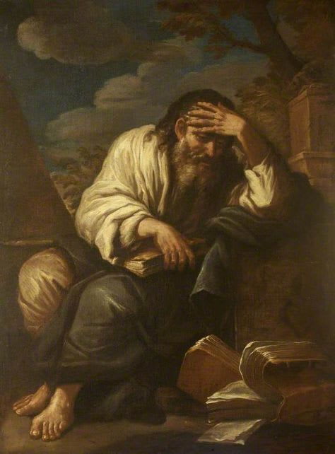 A Philosopher, a painting by Salvator Rosa