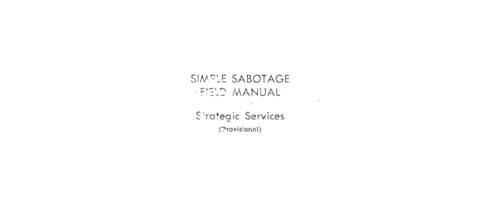 Cover image for Sabotaging the Workplace