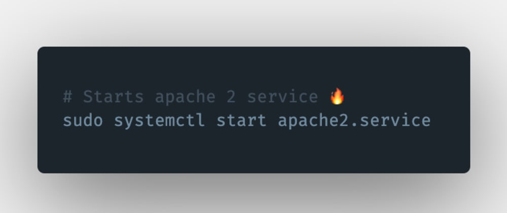 Cover image for How to start an Apache 2 server or service in Linux?
