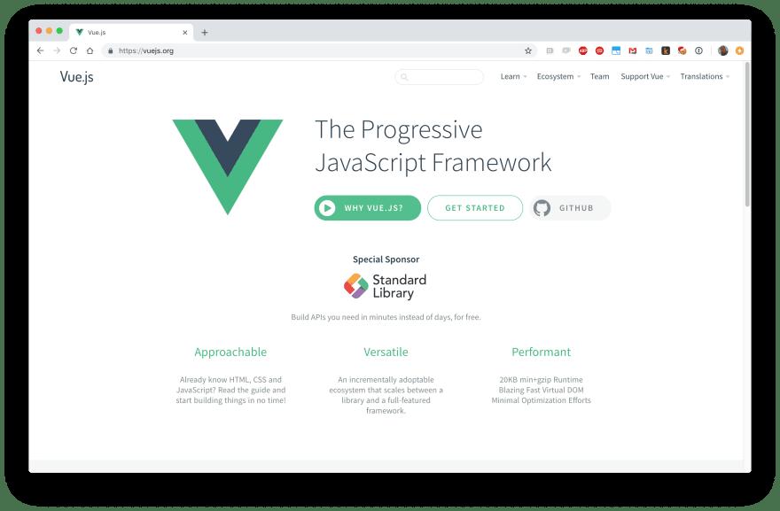 Vue is a Progressive JavaScript Framework