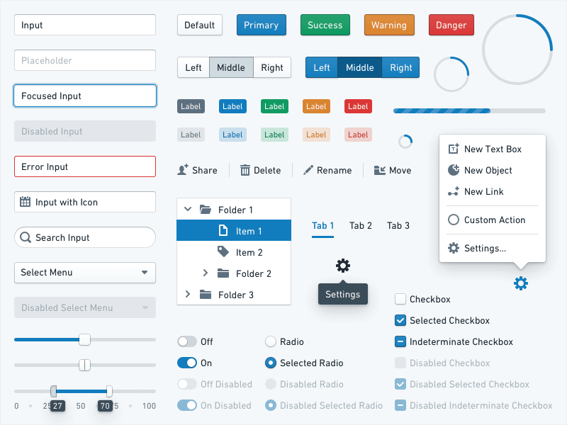 [Palantir's Blueprint](https://dribbble.com/Palantir) component library