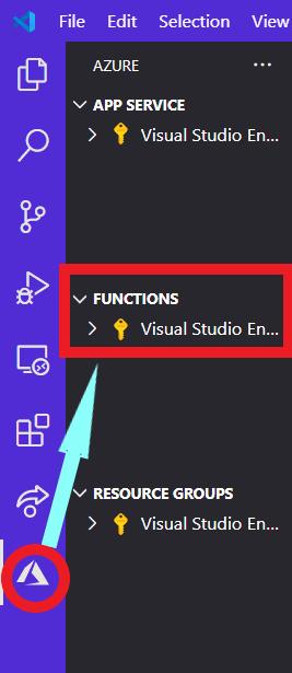 VS Code Azure Functions Area