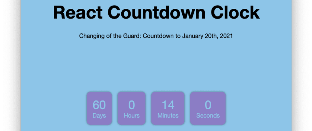 Cover image for Project 14 of 100 - React Countdown Clock