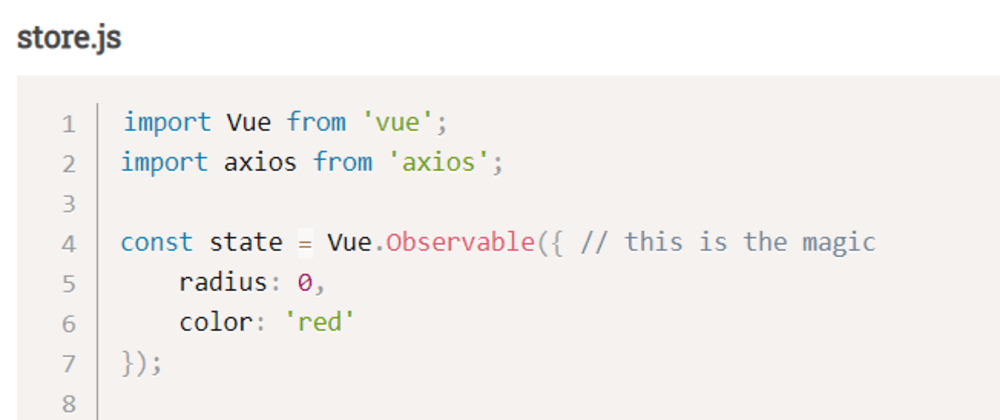 Cover image for Using Vue Observable as a State Store