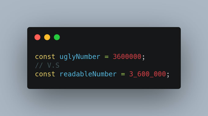 picture of using _ separated numbers instead of using big numbers directly