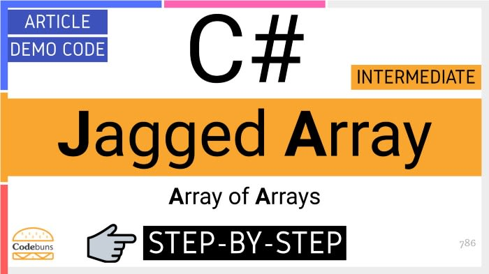 C# Jagged Array(Array of Arrays