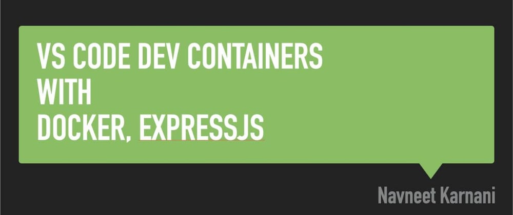 Cover image for Debugging ExpressJS app with Docker and Visual Studio Code DevContainers