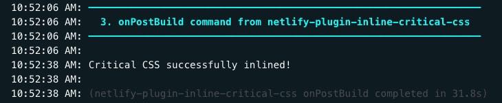 Inline critical CSS