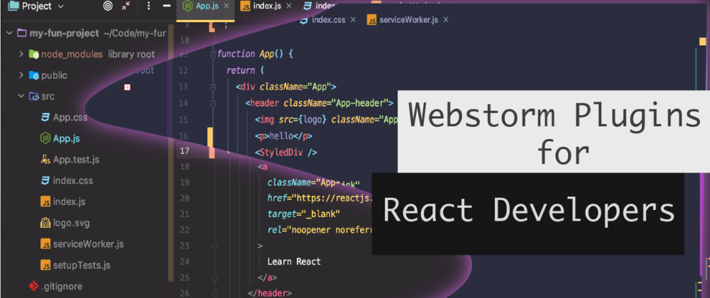 Cover image for Webstorm Plugins for React Developers