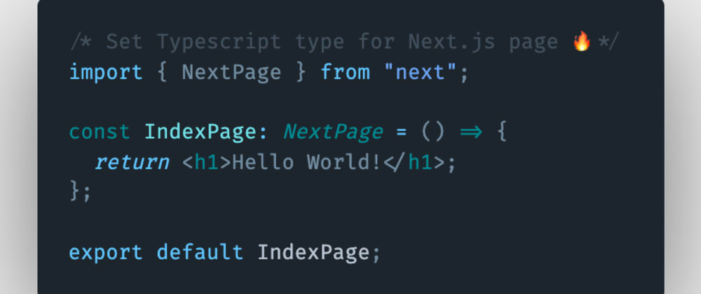 Cover image for How to set typescript types for a page or a functional component in Next.js?