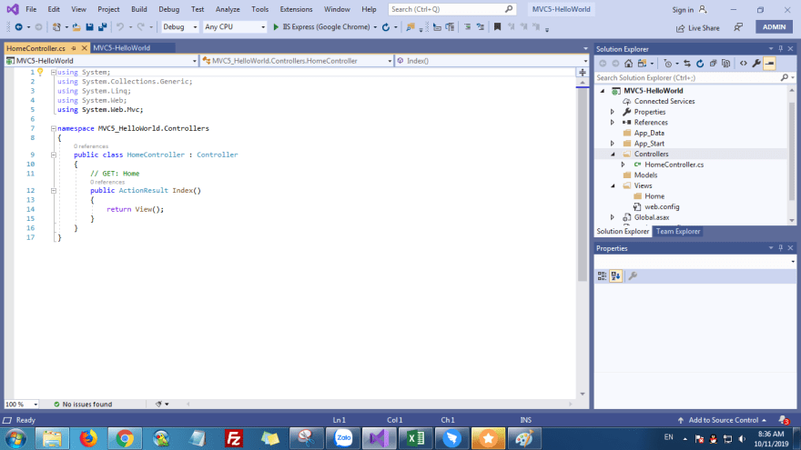 ASP.NET MVC 5 Helllo World - hoanguyenit.com