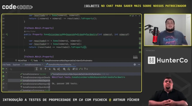 Introducing properties tests on C# with FSCheck
