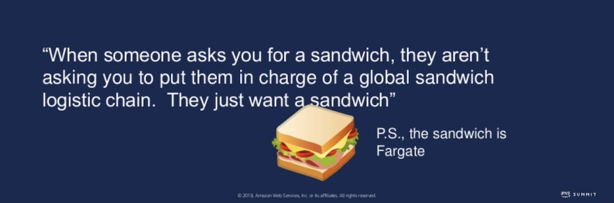 AWS Fargate Sandwich Quote
