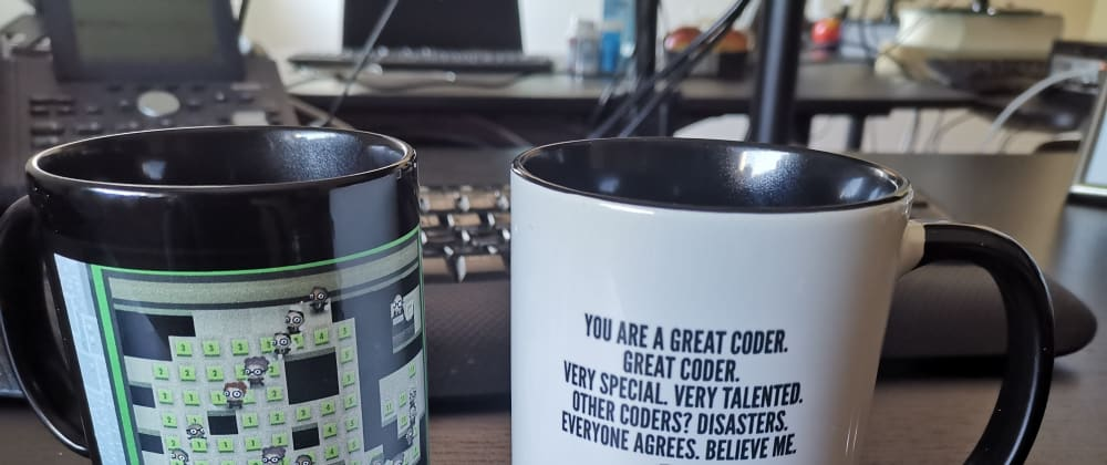 Cover image for Let's Share Photos of our Geekiest Mugs and Stuff at our Workplace