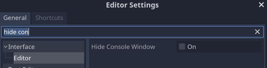 Editor Settings highlighting option