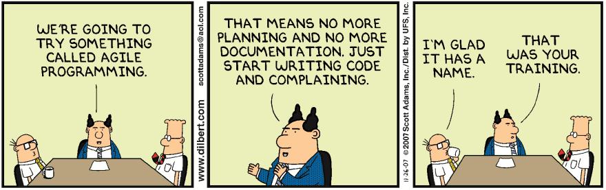 Dilbert tries programming
