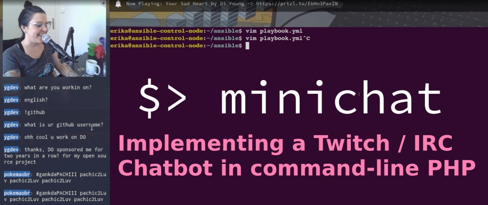 Cover image for Creating a Twitch / IRC Chatbot in PHP with Minicli