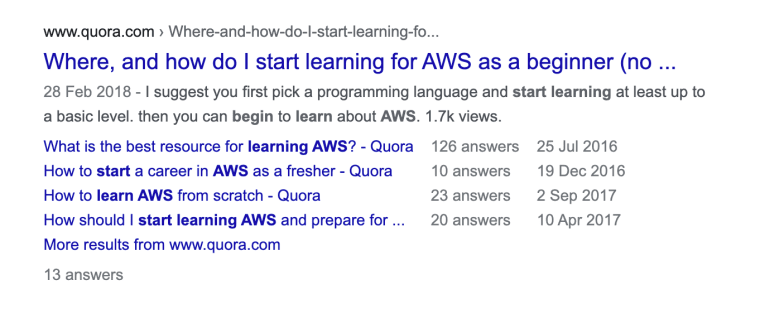 Where To Learn AWS Forum