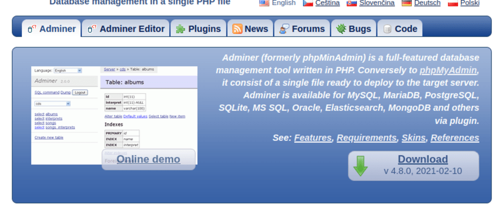 Cover image for phpMyAdmin Alternatives (Web based SQL Client)