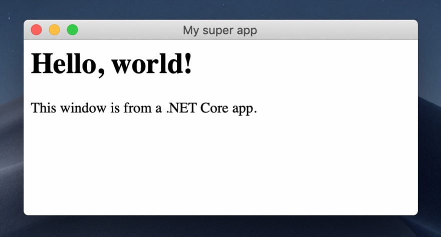 WebView hello, world application on Mac