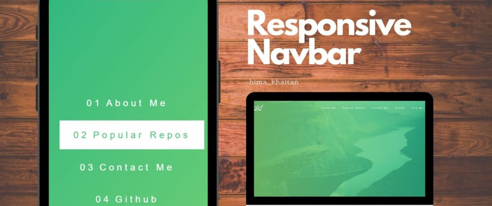 Cover image for How I made this cool Responsive Navigation Bar!