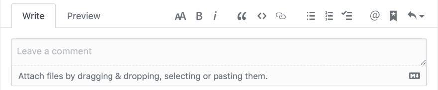 Screenshot of GitHub issue editor