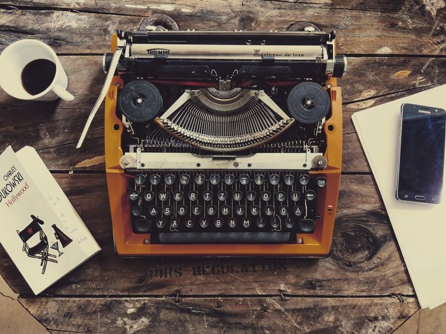Old-school typewriter.