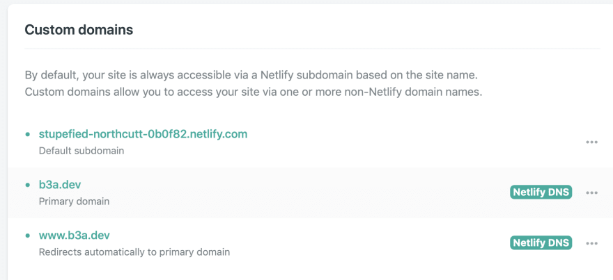 verified domain