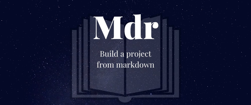 Cover image for Building a project from markdown