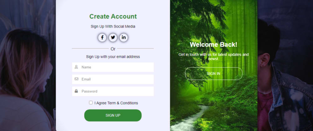 Cover image for How to Create Responsive Sign Up Form with HTML5 CSS3 | Create HTML CSS  Registration Form
