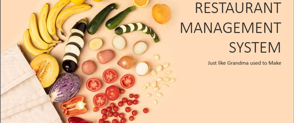 Cover image for Database Design of a Restaurant Management System from user story to relational Model