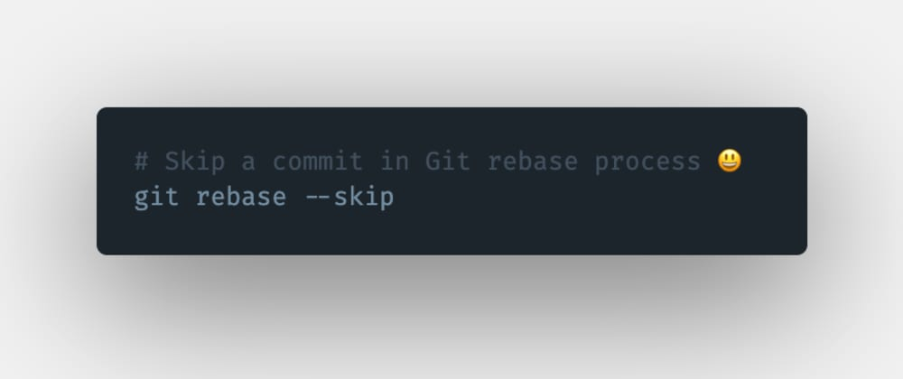 Cover image for How to skip a commit during the git rebase process?