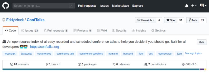 The ConfTalks GitHub