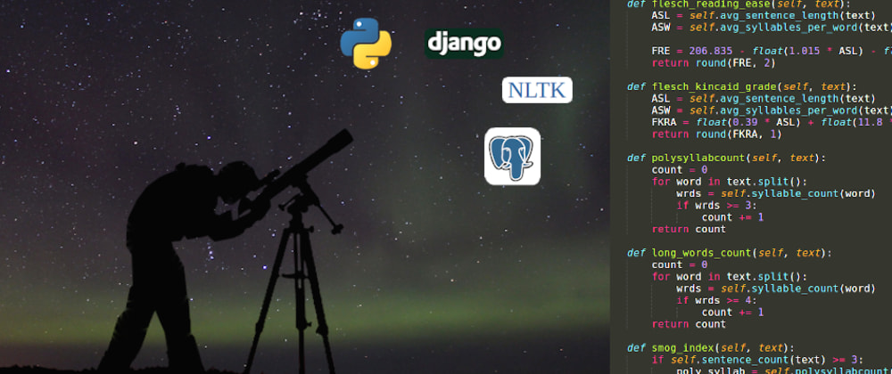 Cover image for When a technology draws the perfect constellation for your educational project (Django, NLTK...)
