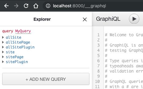 Gatsby GraphQL UI