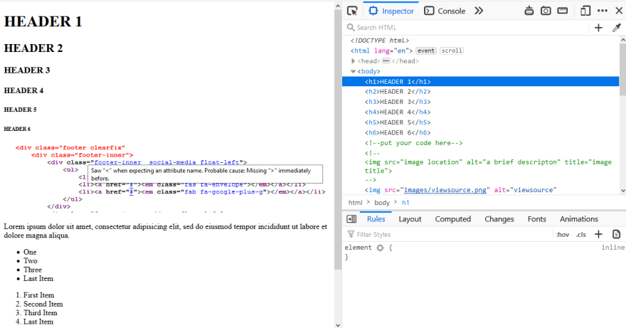 DevTools in Chrome