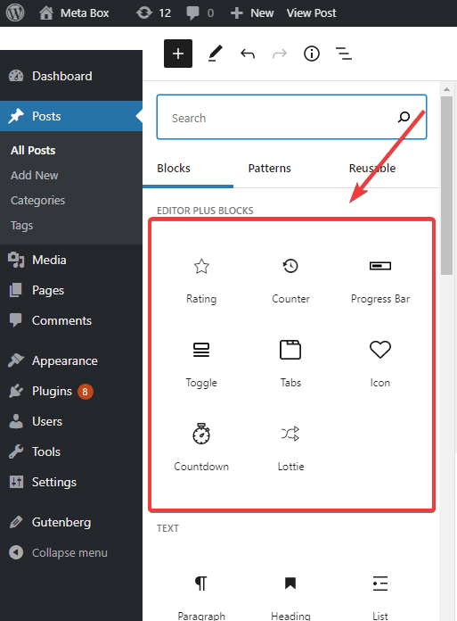 Editor Plus plugin provides some interesting and practical blocks like rating, counter, icon